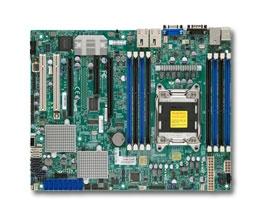 Supermicro Motherboard MBD-X9SRH-7TF Single socket R LGA 2011 SATA2 SATA3  Ports 8 SAS2 ports via LSI 2308 Dual 10GBase-T LAN ports IPMI 2 0 KVM DOM