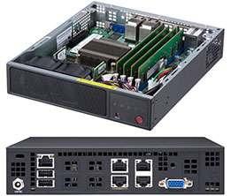 Supermicro E200-9A SuperServer, Embedded/IoT, Mini-1U, Single socket FCBGA  1310, Virtualization Server, Virtual-CPE White Box, Entry-level Network