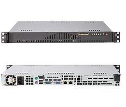Supermicro 1U mini Server 260watts Low-noise LGA1156 Intel Xeon Quad-Core  2 4GHz 8MB Smart Cache Server Processor 8GB DDR3-1333 ECC RAM 2x1TB SATA